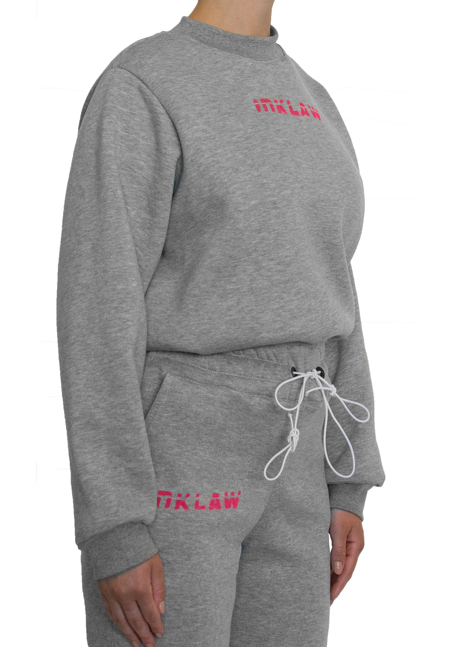 INKLAW CROPPED SWEATSHIRT - GREY