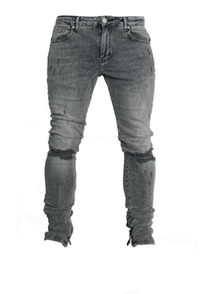 DISTRESSED DENIM - CHARCOAL WASHED