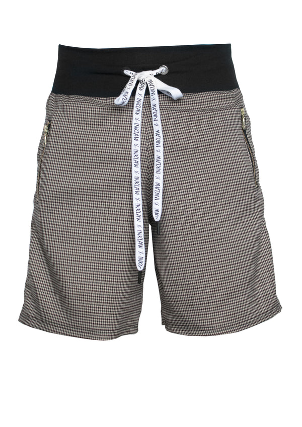 MULTICOLOR HOUNDSTOOTH SHORTS