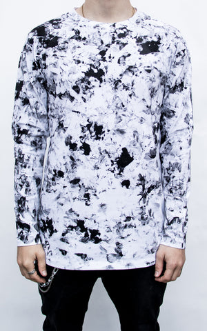 INKED CAMO LONG SLEEVE - OPTICAL WHITE