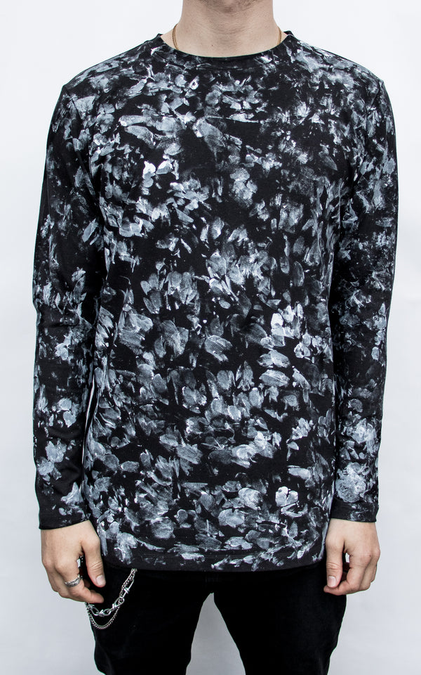 INKED CAMO LONG SLEEVE - BLACK