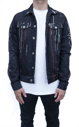 INKED DENIM TRUCKER JACKET