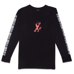 ONYX TEAR LONG SLEEVE - BLACK