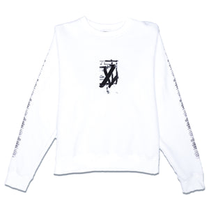 ONYX TEAR CREWNECK SWEATER - WHITE