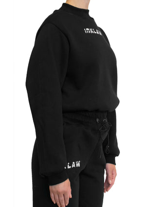 INKLAW CROPPED SWEATSHIRT - BLACK