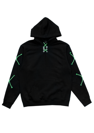 1 OF 10 NEON LACED HOODIE - BLACK