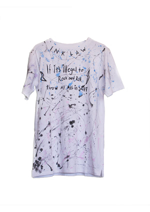 1 OF 10 PAINTERS QUOTE T-SHIRT - WHITE