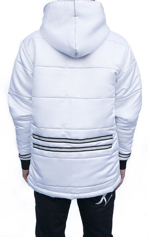 WHITE REFLECTIVE STRIPED JACKET