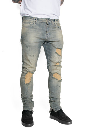 DESTROYED DENIM - DIRTY INDIGO