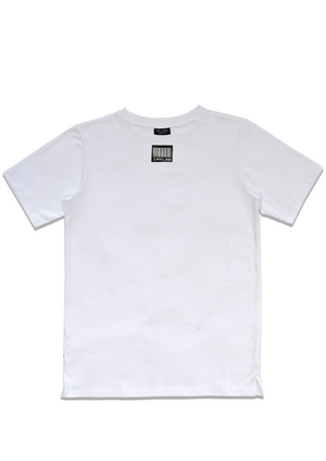 1 OF 10 WHITE BARCODE T-SHIRT