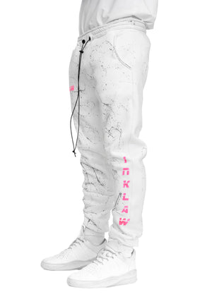 INKED SWEATPANTS - WHITE