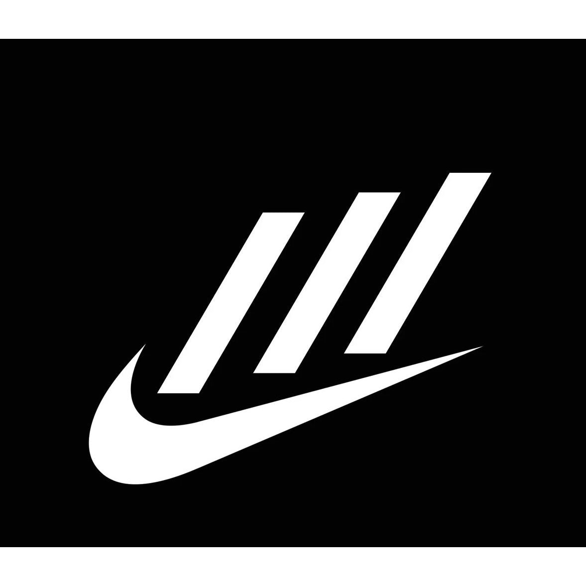 Caso Alarmante bueno  Adidas x Nike Collab Logo Iron-on Sticker (heat transfer) – customeazy