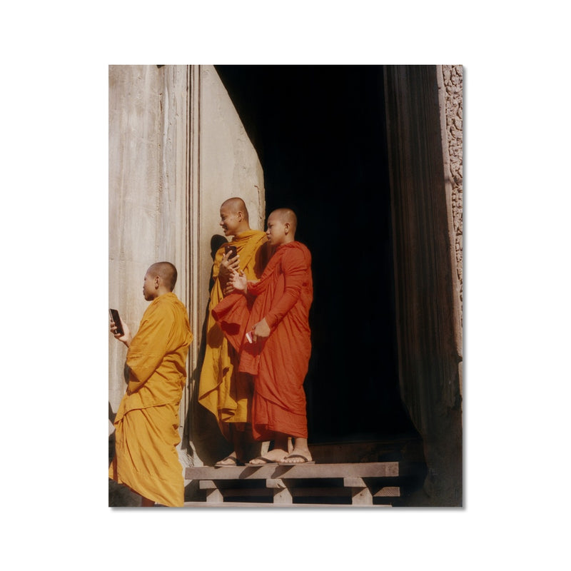 """Monks On Their iPhones"" By Andrei Topli"