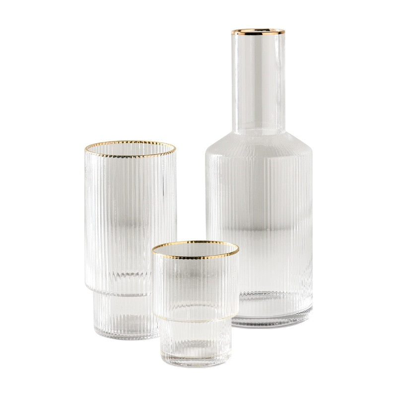 The Gold Rimmed Gatsby Glass Collection