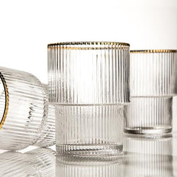 The Gold Rimmed Gatsby Stackable Glass
