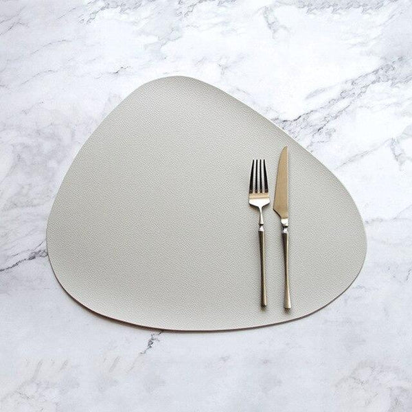 The Jetson Vegan Leather Placemat In Creamy-White