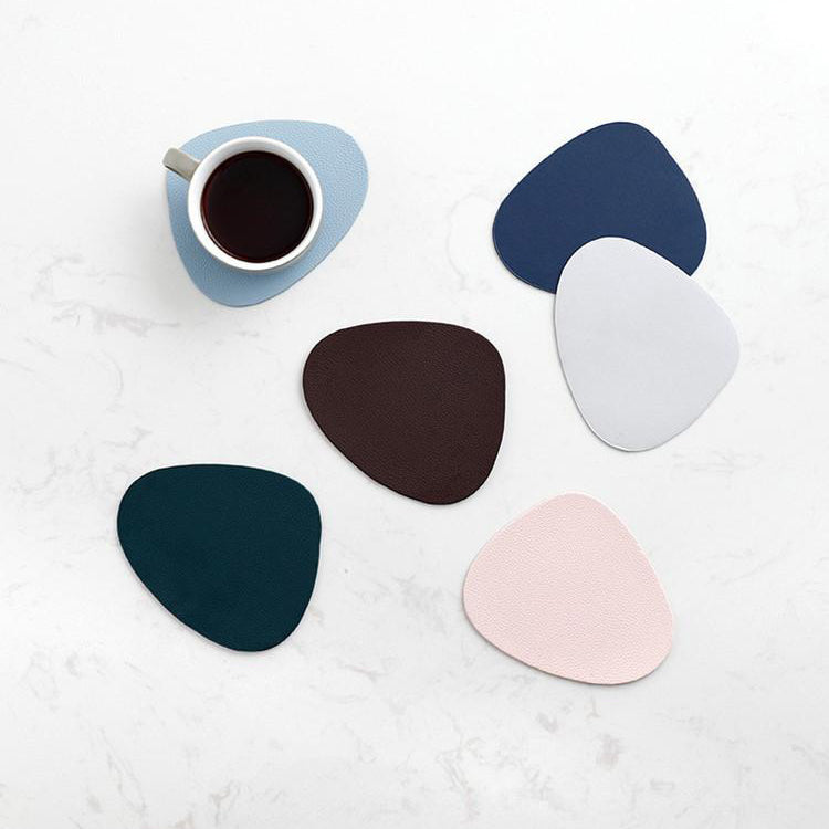 The Jetson Vegan Leather Placemat & Coaster Set