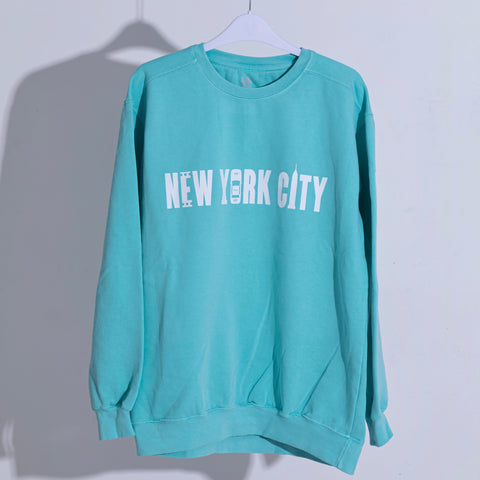New York City Classic Mint Crewneck Sweatshirt