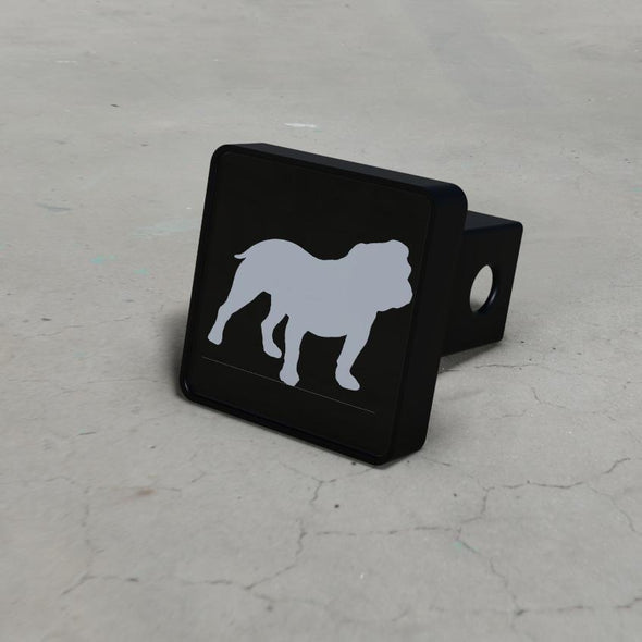 English Bulldog Silhouette LED Brake Hitch Cover