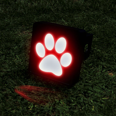 Paw Print LED Hitch Cover - Brake Light