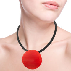 DISCO • murano glass necklace • BLACK | black