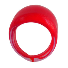 FASCIA CHERRY red 2-tone murano glass flat band ring, one size fits most, 100% handmade in Italy