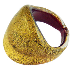 FASCETTA • silver-leaf or gold-leaf • murano glass rings
