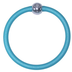 TUBINO SPORTIVO AQUA satin linkable fashion BRACELET luxurious hypoallergenic synthetic rubber with nickel-free metal links, easily cut to size, Made in Italy