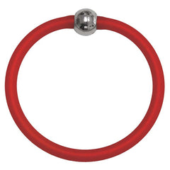 TUBINO SPORTIVO RED matte linkable fashion BRACELET luxurious hypoallergenic synthetic rubber with nickel-free metal links, easily cut to size, Made in Italy