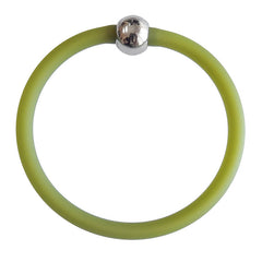 TUBINO SPORTIVO OLIVE sheer linkable fashion BRACELET luxurious hypoallergenic synthetic rubber with nickel-free metal links, easily cut to size, Made in Italy