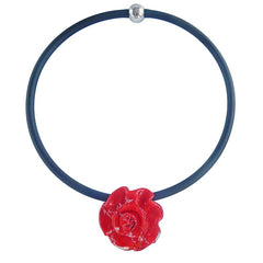 ROSA • ROSE murano glass necklace