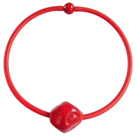 SASSO • murano glass necklace • RED