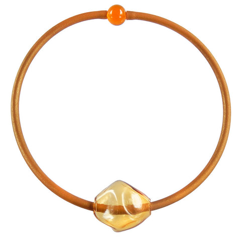 SASSO • murano glass necklace  • AMBER | gold