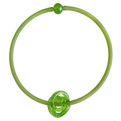TRIO • KNOT murano glass necklace • PERIDOT olive