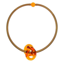 TRIO • KNOT murano glass necklace • AMBER gold