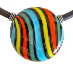 VERONA • blown murano glass necklace • CARNEVALE | black