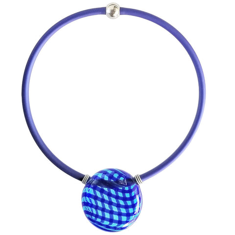 VERONA • blown murano glass necklace • BLUE | cobalt