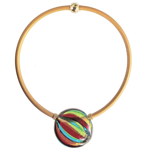 VERONA • blown murano glass necklace • MULTI | gold