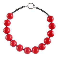 BUBBLES • murano glass necklace • RED