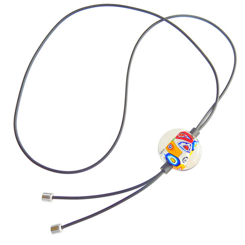MILLEFIORI CRYSTAL lungo • Murano Glass Bolo Lariat Necklace