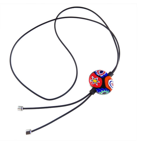 MILLEFIORI lungo • Murano Glass Bolo Lariat Necklace