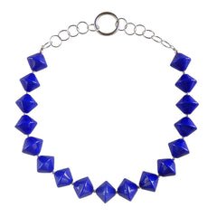 BICONO • murano glass necklace • LAPIS