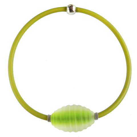 FROST • murano glass necklace • PERIDOT | olive