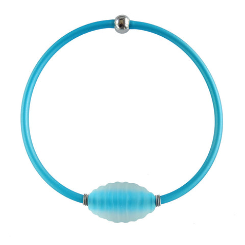 FROST • murano glass necklace • AQUA | aqua