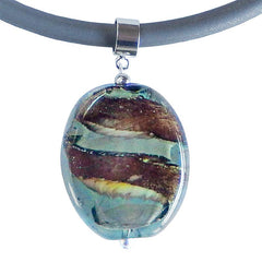 STONE2 • murano glass necklace • CRYSTAL MIX | silver