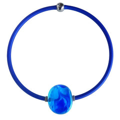 MARMO • murano glass necklace • BLUE MIX | cobalt