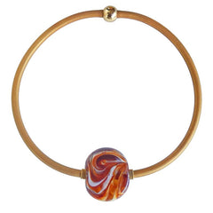 MARMO • murano glass necklace • AMBER MIX | gold