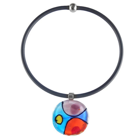 "ABSTRACT ""D"" • murano glass necklace • MULTI 