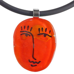 SCRIBBLE • murano glass necklace • ORANGE