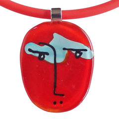 SCRIBBLE • murano glass necklace • RED